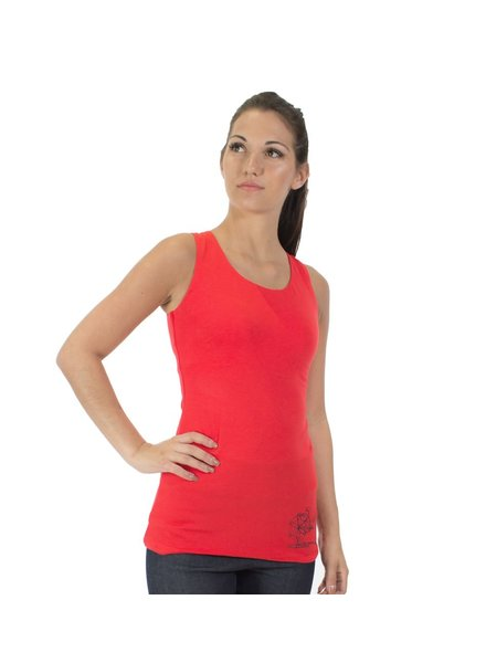 MESSAGE FACTORY MESSAGE FACTORY TANK ZINNIA MAKE DIFFERENCE RED
