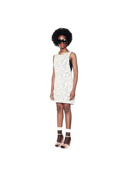 ANNIE 50 ANNIE 50 DRESS HARING WHITE BLACK PRINT