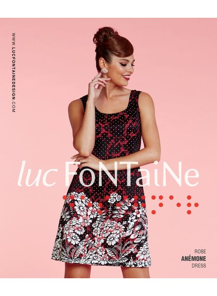 LUC FONTAINE LUC FONTAINE ROBE ANEMONE CORAIL