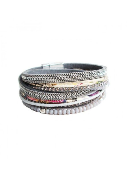 CARACOL CARACOL BRACELET  MANY TEXTURES GREY