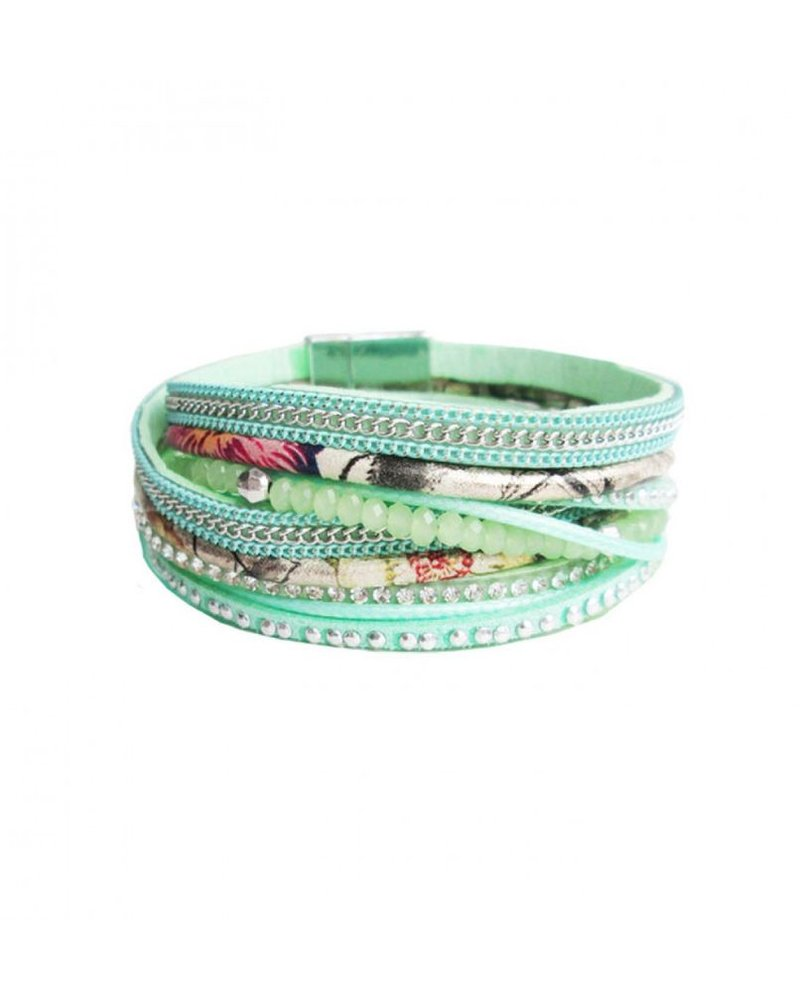 CARACOL CARACOL BRACELET  MANY TEXTURES TURQUOISE
