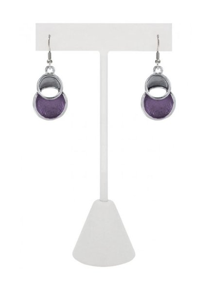 CARACOL CARACOL 2 CIRCLE EARRINGS PURPLE