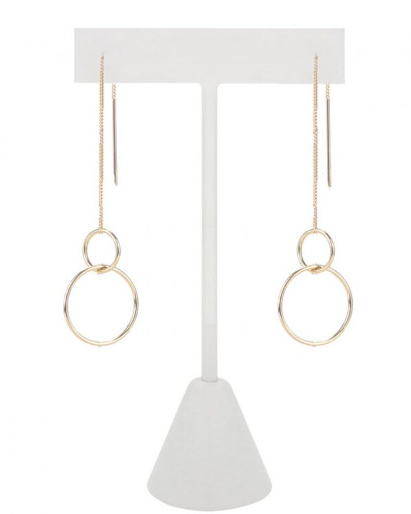 CARACOL CARACOL LONGS SLIMS EARRINGS GOLD