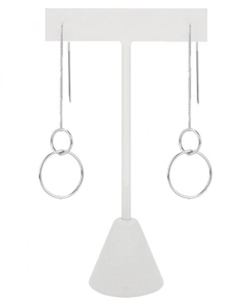 CARACOL CARACOL LONGS SLIMS EARRINGS SILVER