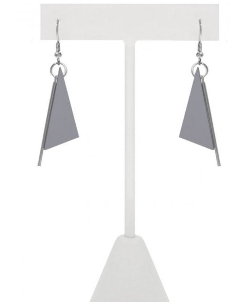 CARACOL CARACOL EARRINGS TRIANGLE GREY
