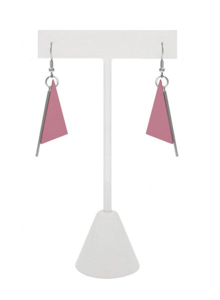 CARACOL CARACOL EARRINGS TRIANGLE PINK