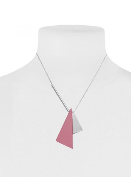 CARACOL CARACOL COLLIER COURT 2 TRIANGLES ROSE