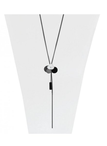 CARACOL CARACOL LONG NECKLACE GREY