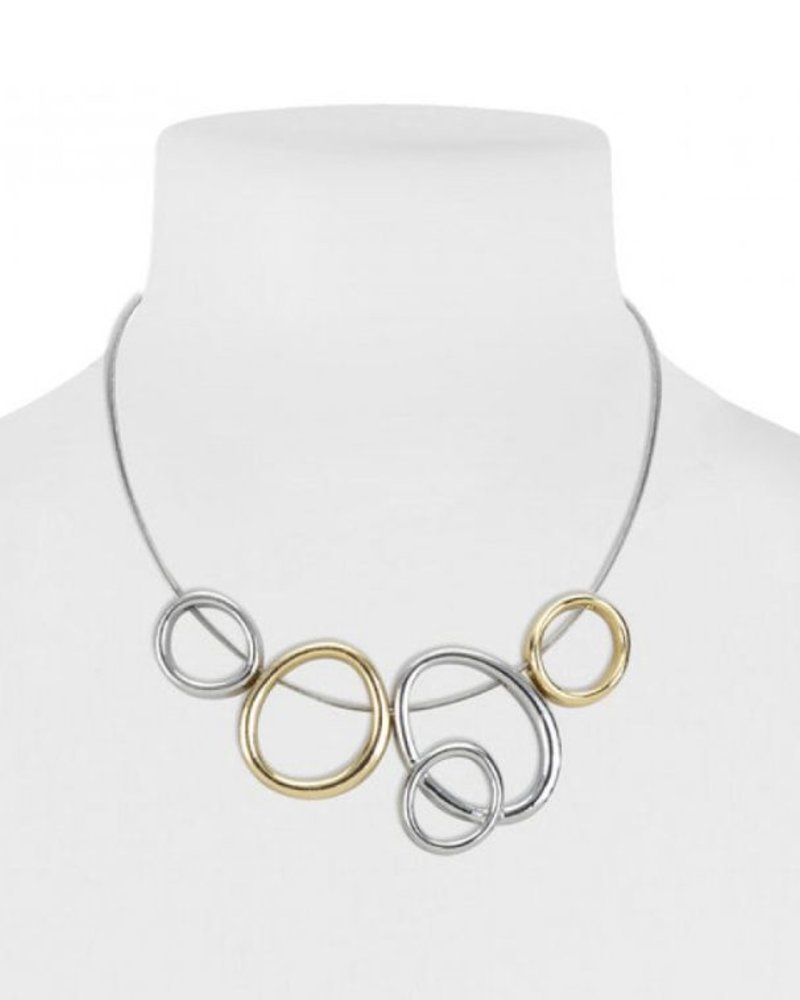 CARACOL CARACOL SHORT NECKLACE RINGS MIX GOLD