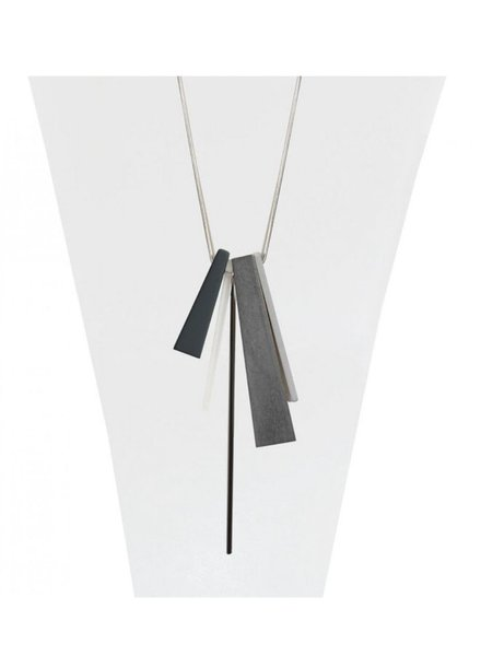 CARACOL CARACOL LONG NECKLACE PENDANT  WOOD GREY