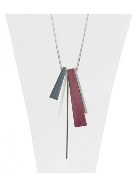 CARACOL CARACOL LONG NECKLACE PENDANT  WOOD PINK