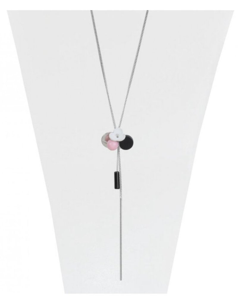 CARACOL CARACOL LONG NECKLACE PINK