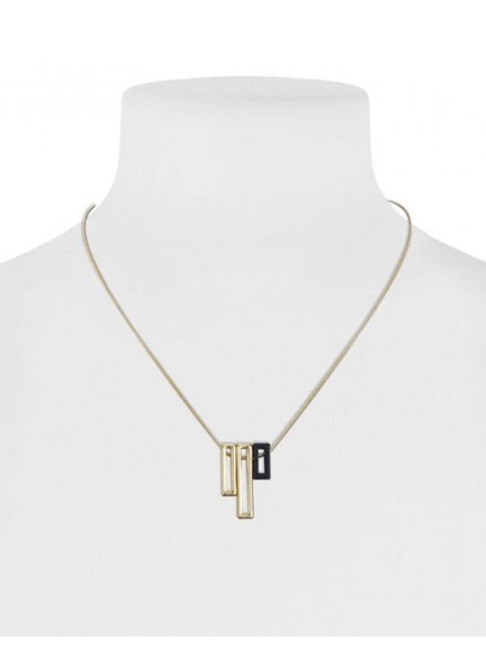 CARACOL CARACOL SHORT NECKLACE RECTANGLES GOLD