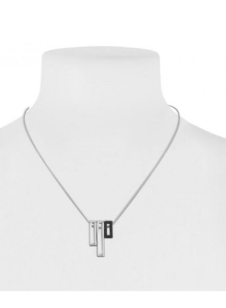 CARACOL CARACOL SHORT NECKLACE RECTANGLES SILVER