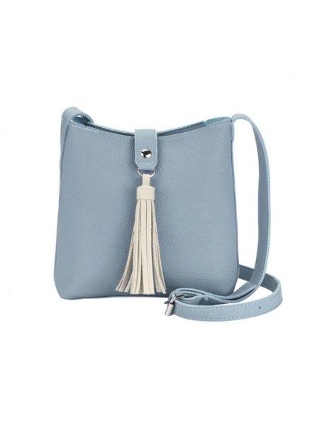 CARACOL CARACOL HAND BAG POMPON BLUE