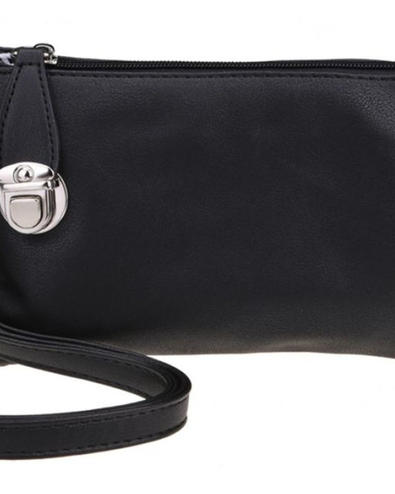 CARACOL CARACOL HAND BAG WITH MANY POCKETS BLACK