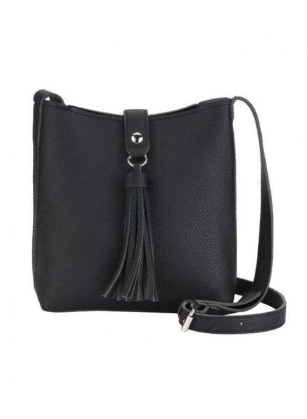 CARACOL CARACOL HAND BAG POMPON BLACK