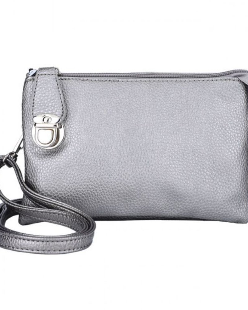 CARACOL CARACOL HAND BAG WITH MANY POCKETS GREIGE/METAL