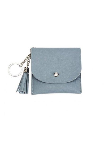CARACOL CARACOL MINI BAG/KEY RING BLUE