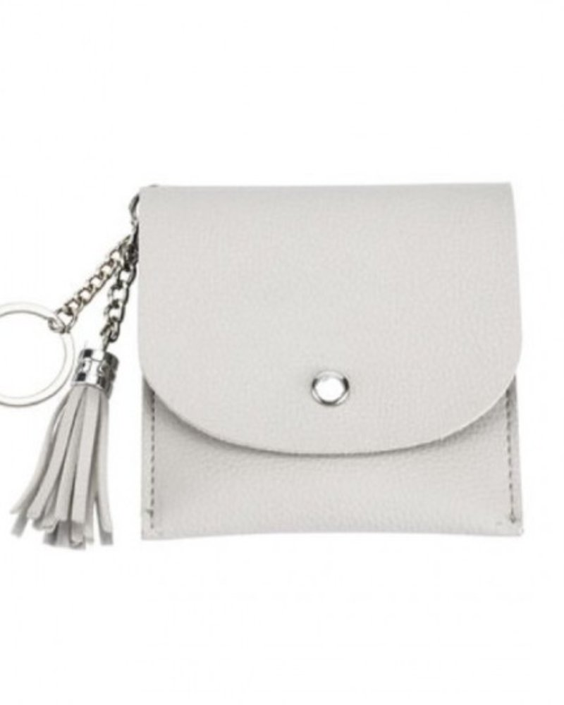 CARACOL CARACOL MINI BAG/KEY RING GREIGE