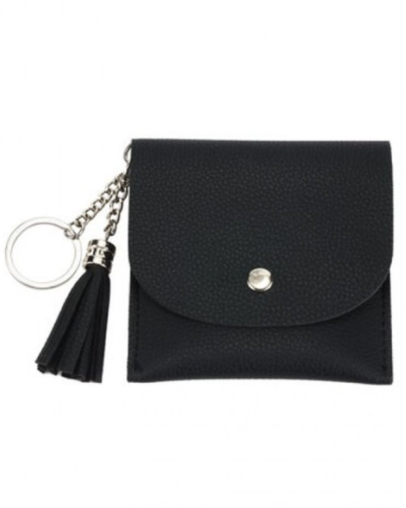 CARACOL CARACOL MINI BAG/KEY RING BLACK
