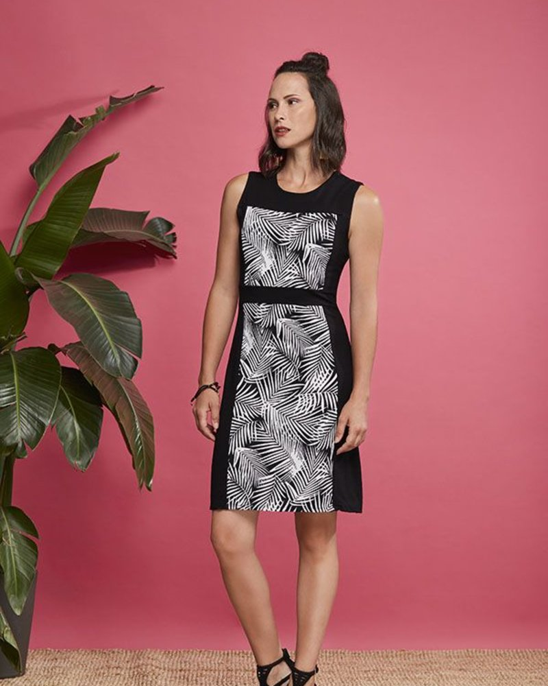 CHERRY BOBIN CHERRY BOBIN DRESS MAUI BLACK PALM