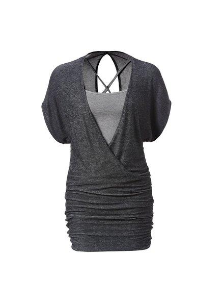 MELOW DESIGN MELOW DRESS VERONICA BLACK/CHARCOAL