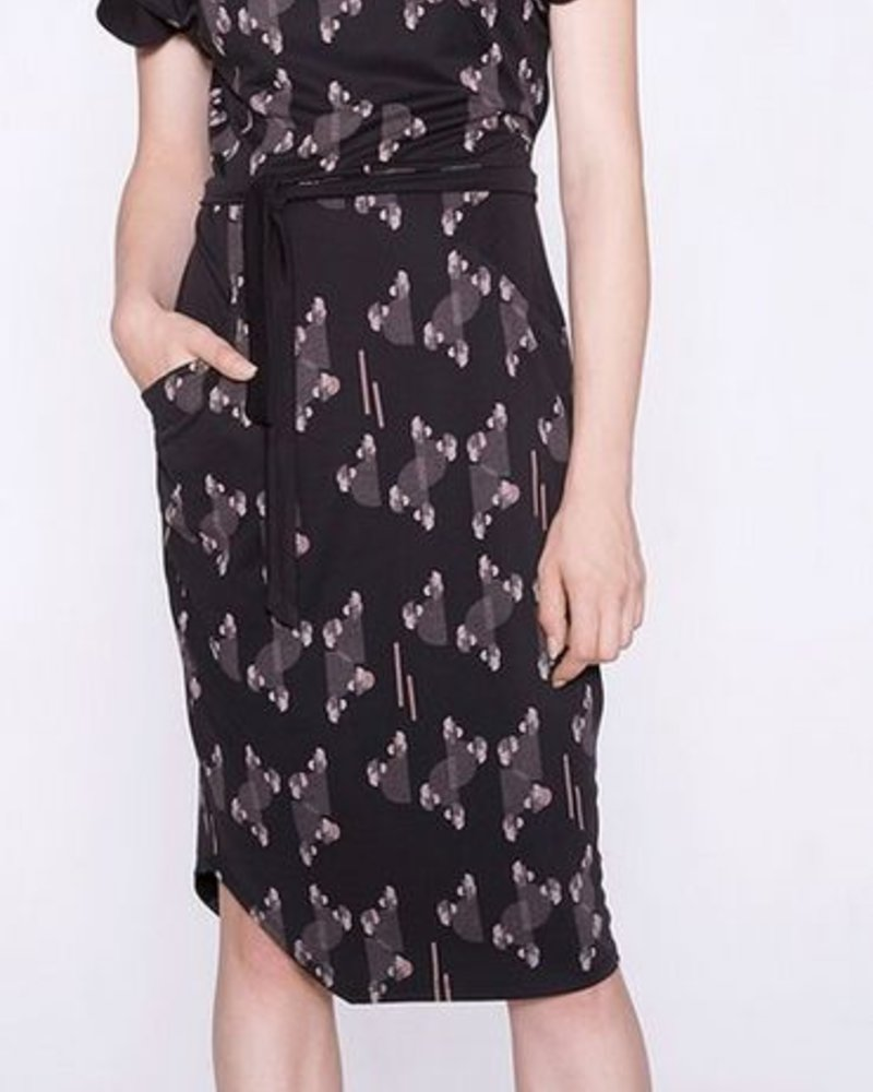 COKLUCH COKLUCH DRESS NIKI HALF MOON BLACK