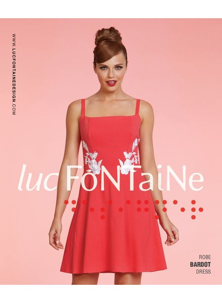 LUC FONTAINE LUC FONTAINE DRESS BARDOT CORAL
