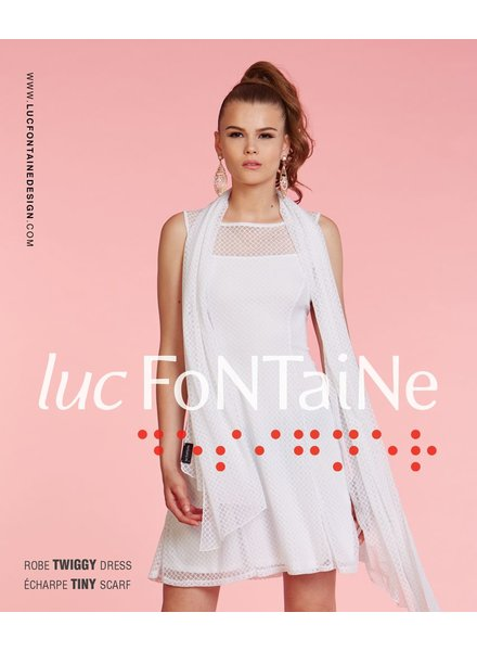 LUC FONTAINE LUC FONTAINE DRESS TWIGGY IVORY