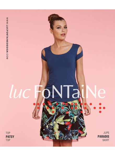 LUC FONTAINE LUC FONTAINE TOP PATSY BLUE
