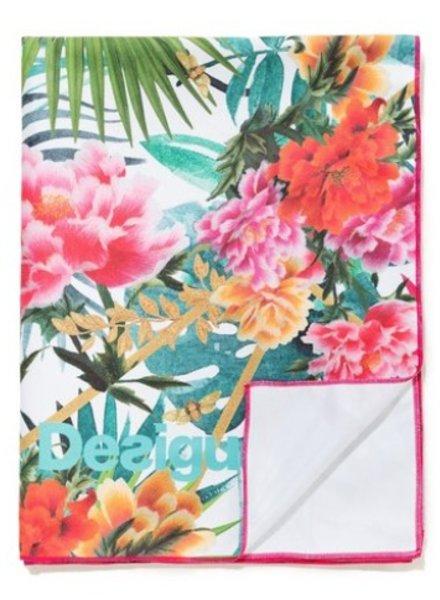 DESIGUAL DESIGUAL TOWEL TROPICAL WHITE