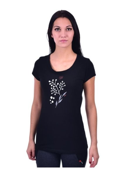 OOM OOM T-SHIRT WOMEN FLORAISON BLACK