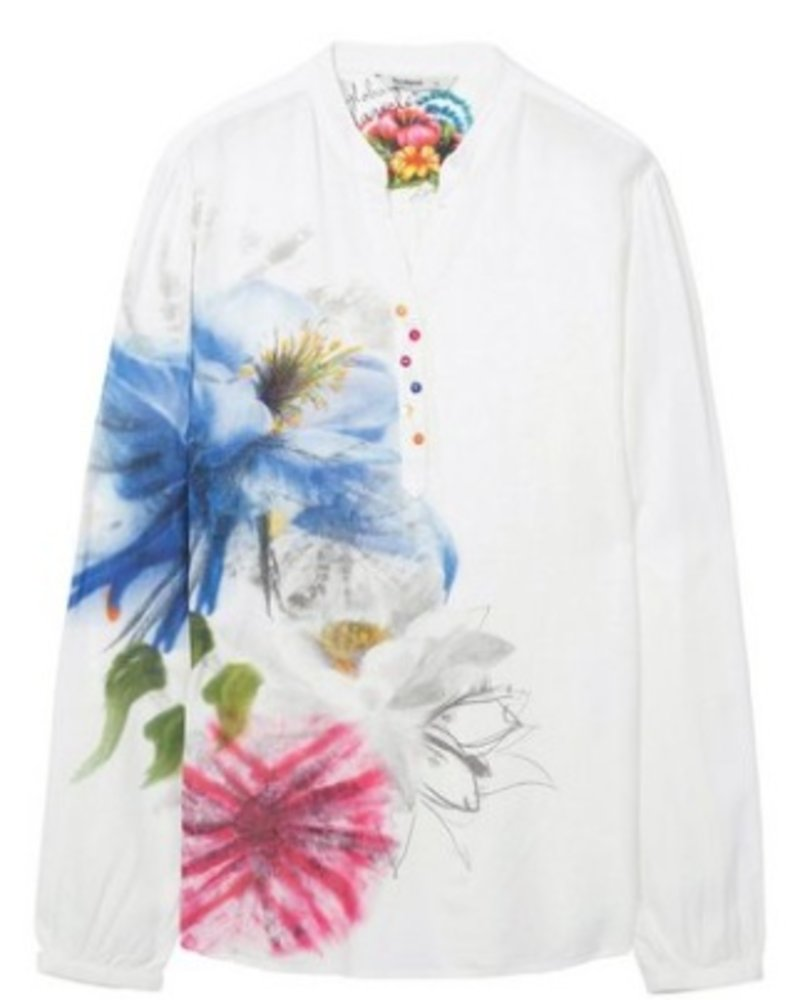 DESIGUAL DESIGUAL BLOUSE JAIPUR INDIA WHITE