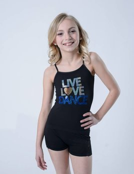 OSFA TANK TOP LIVE LOVE DANCE YOUTH