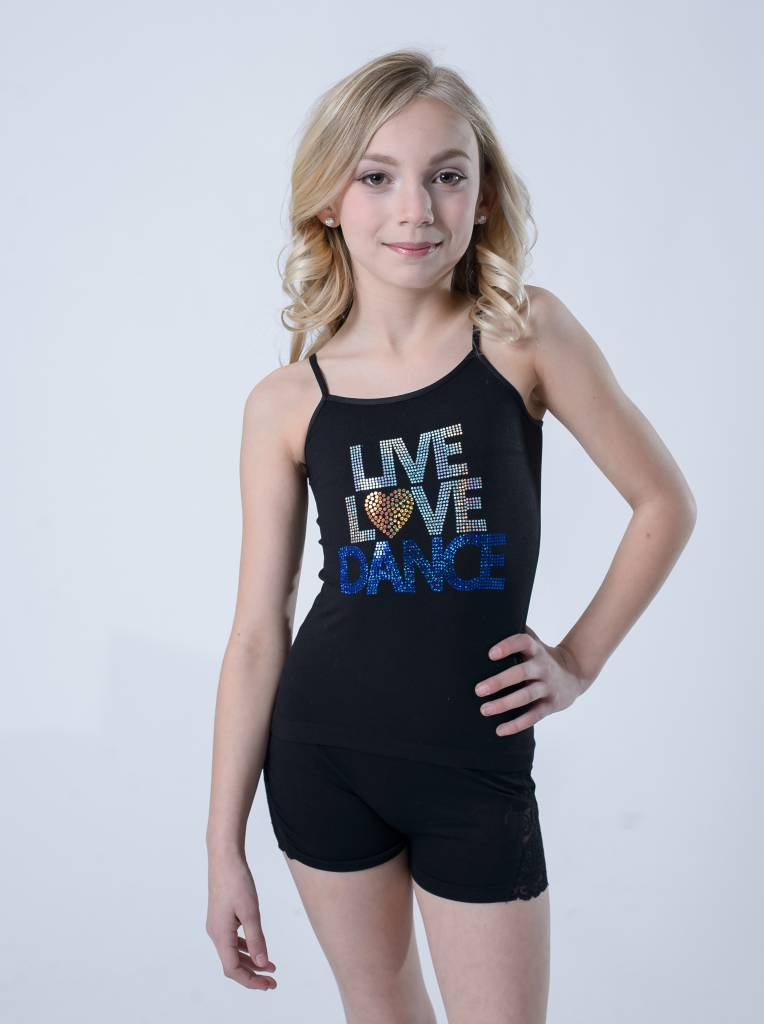 OSFA TANK TOP LIVE LOVE DANCE YOUTH