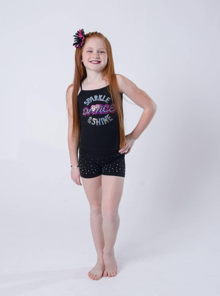 OSFA TANK TOP SPARKLE DANCE SHINE YOUTH