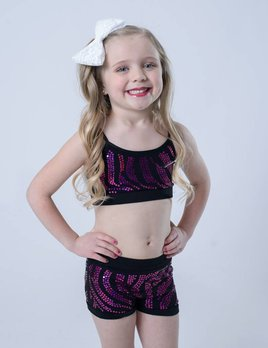 OSFA SHORT ZEBRA SEQUIN YOUTH