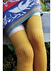 Wool Blend Ribbed Over-the-Knee Socks