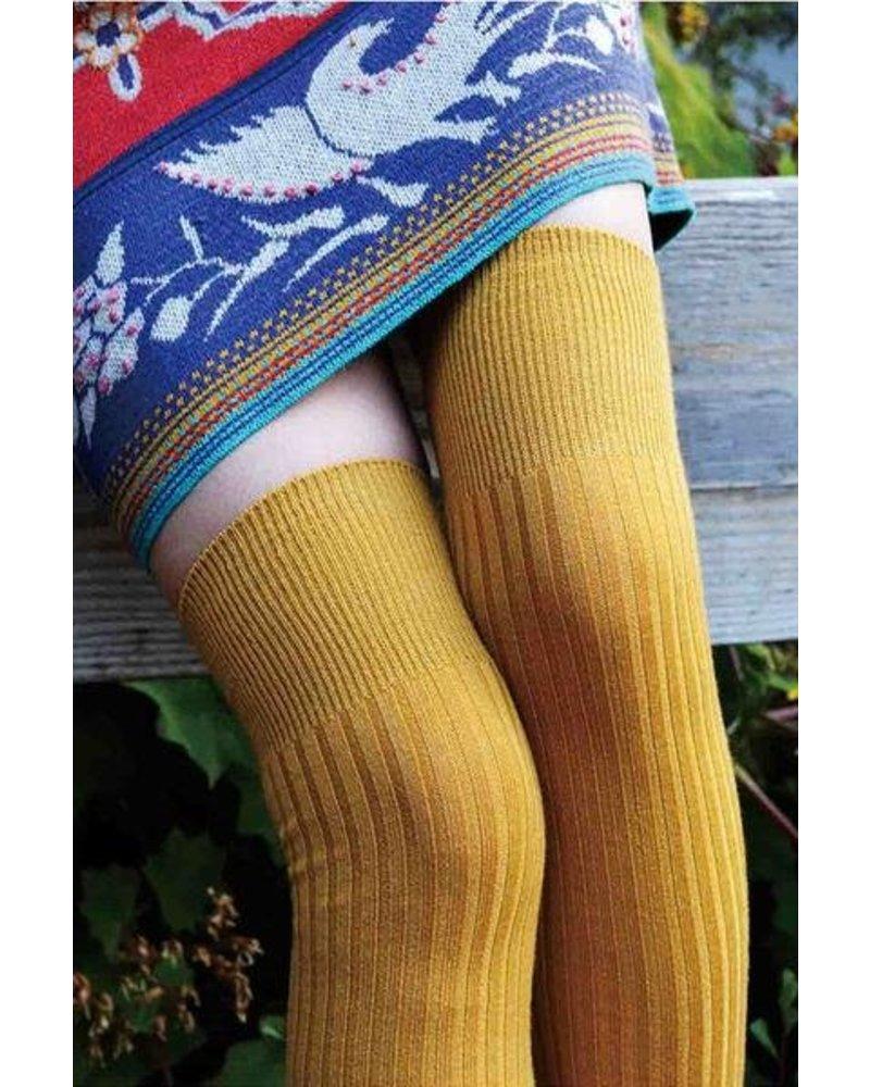 Tabbisocks Wool Blend Ribbed Over-the-Knee Socks