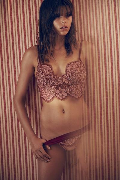 Skivvies by For Love and Lemons Loucette Underwire Bra