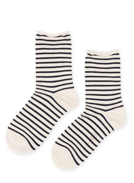 Hansel from Basel Nautical Stripe Crew Socks