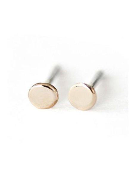 Upper Metal Class Bronze Mini Circle Earrings