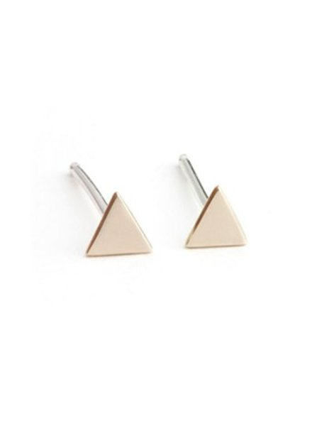 Upper Metal Class Bronze Mini Triangle Earrings