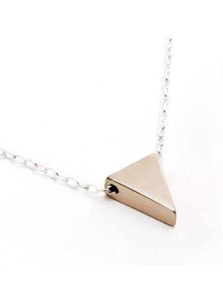 Upper Metal Class Bronze Isosceles Triangle Necklace