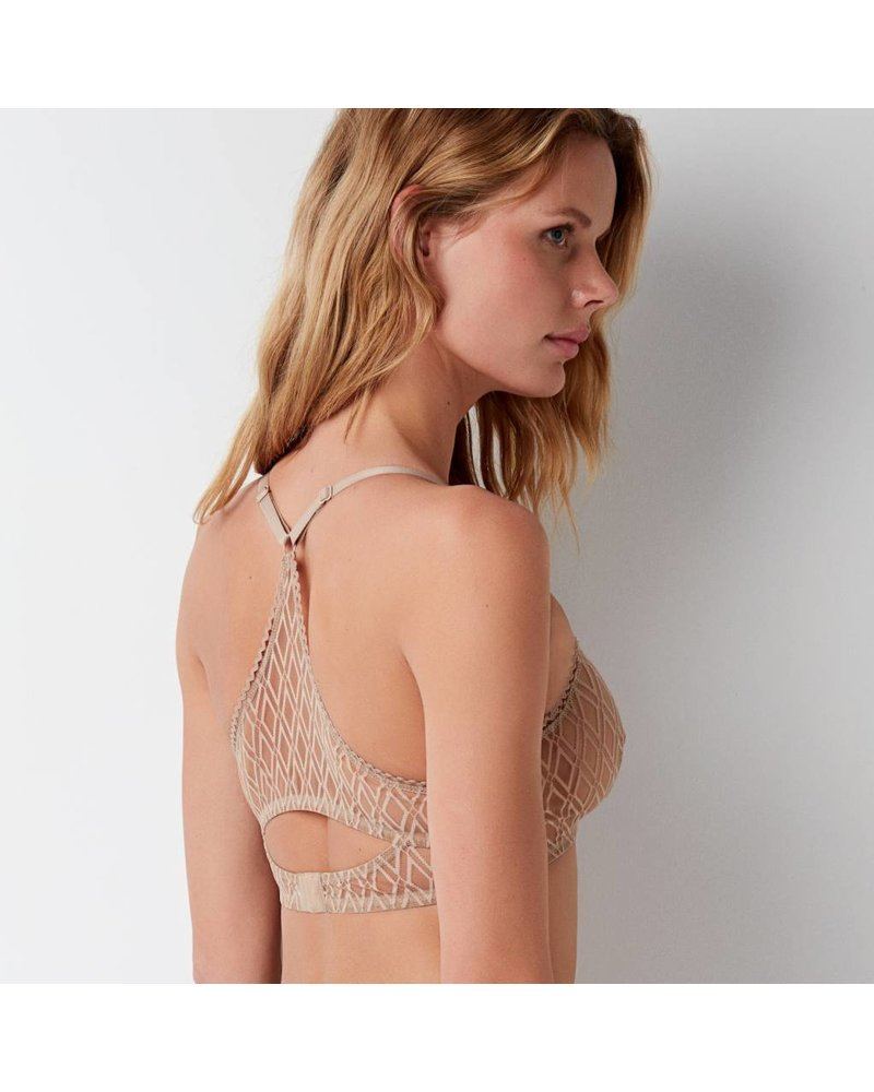 Else Baklava Soft Cup Racerback Cut Out Bra