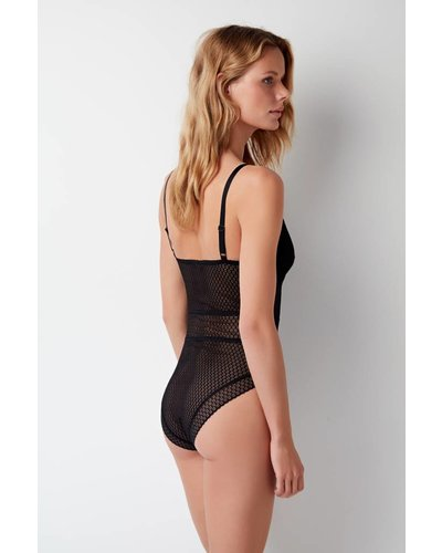 Else Pointelle Soft Full Cup Coverage Bodysuit