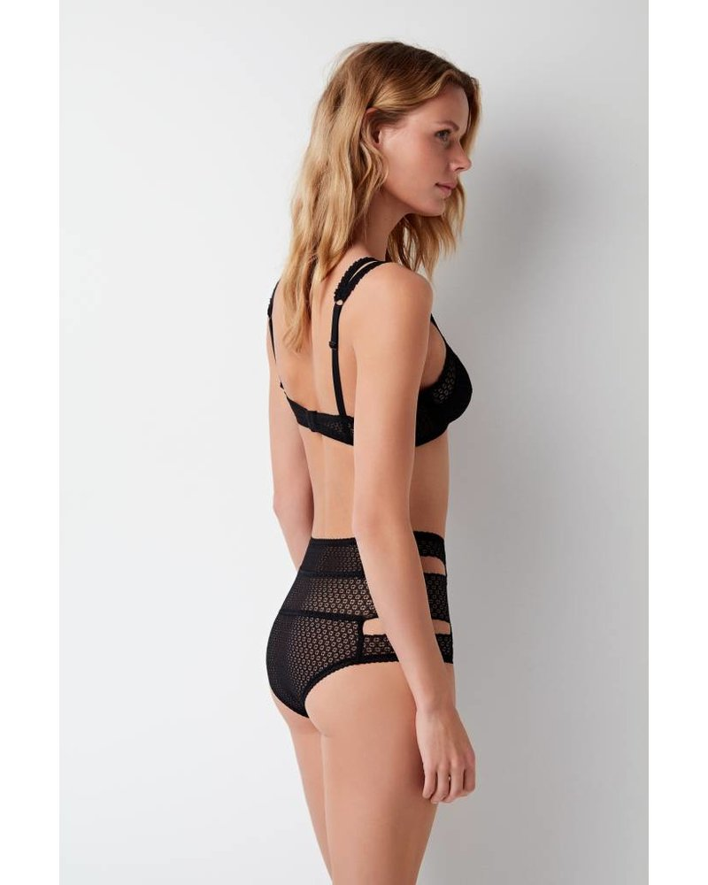 Else Pointelle Cut Out High Waist Brief