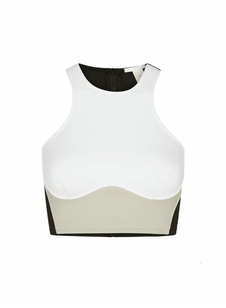 Stella McCartney Stella Iconic Colour Block Racerback Swim Top