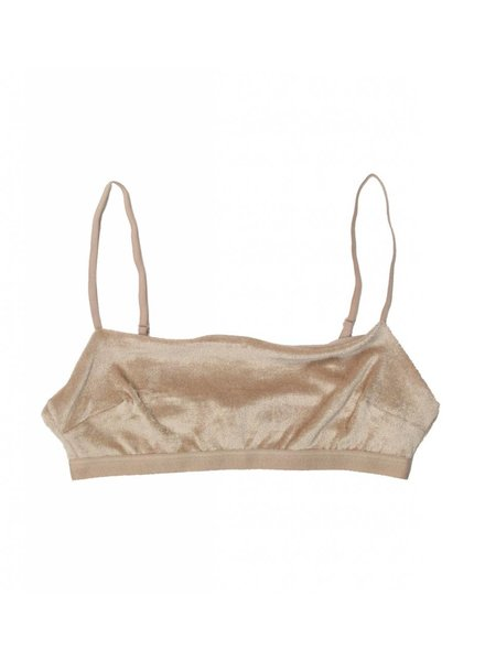 Base Range Shiny Velour Kinch Bra
